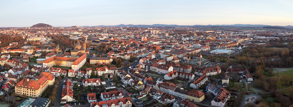 Drohnenpanorama über Fulda