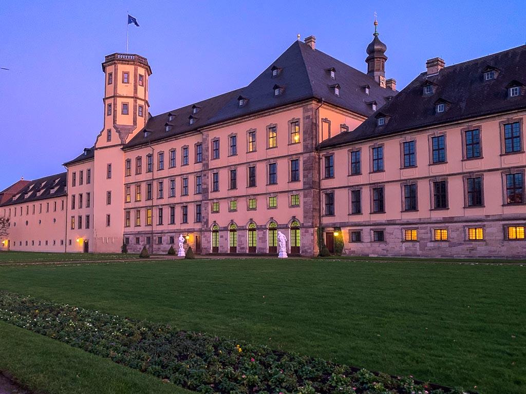 Stadtschloss in Fulda zum Sonnenuntergang