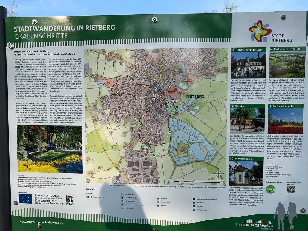 Übersichtskarte - Grafenschritte Stadt Rietberg