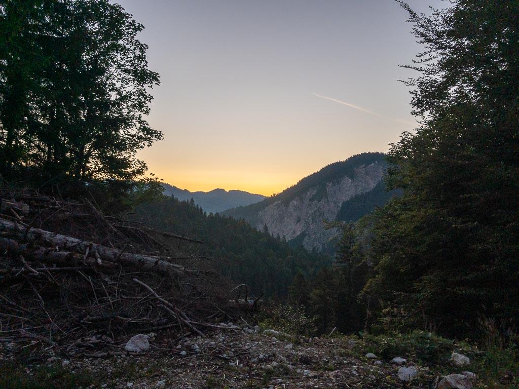 Sonnenaufgang im Rheintal