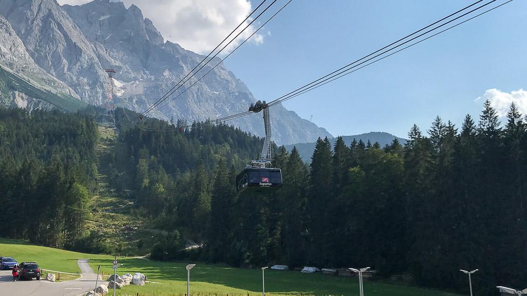 Die Seilbahn zur Zugspitze