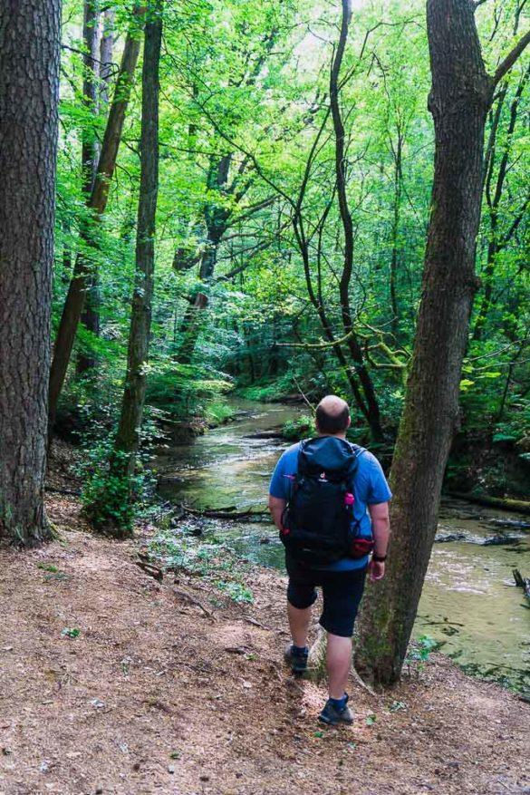 Wanderer im Furlbachtal